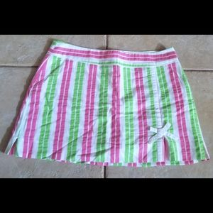 Lilly Pulitzer Originals White Green Pink Skort 8
